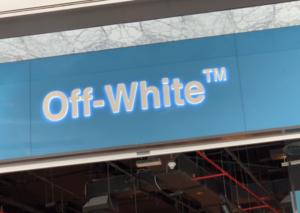 علامة أوف وايت تفتتح أول متجر لها بالشرق الأوسط في دبي مول